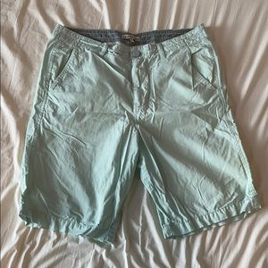 Light mint shorts